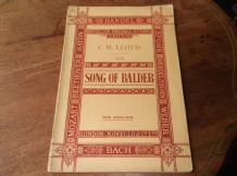 ANTIQUE BOOKLET 1905  C H LLOYD SONG OF BALDER VOCAL SCORE NOVELLO OCTAVO